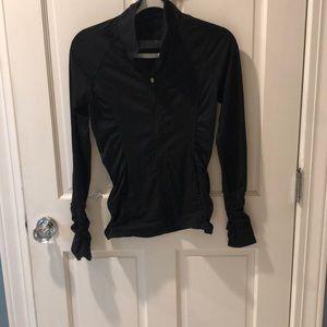 Slim fitted black workout jacket